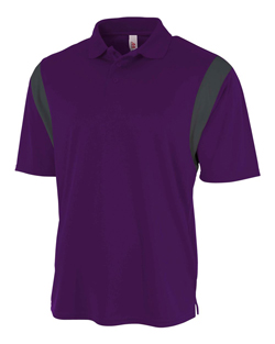 A4 Adult Color Block Polo with Knit Collar.