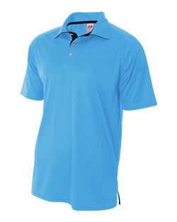 A4 Interlock Polo With Contrast Inserts.
