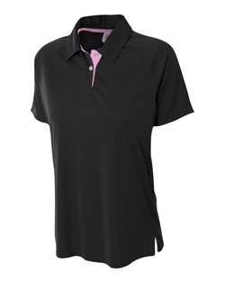 A4 Ladies Interlock Polo With Contrast Inserts.