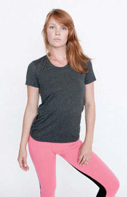 American Apparel Ladies 3.7 Ounce Short Sleeve Track T-Shirt