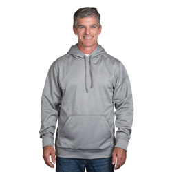 Dunbrooke Champion Hooded Pullover. 100% Polyester 7.5oz/255 GSM Tech fleece pullover with mesh lined drawstring hood.Brushed in