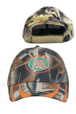Headwear Professionals Laminated Leaf-Print Camouflage Two-Tone Cap