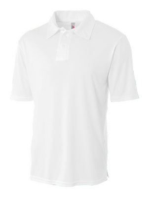 A4 Youth Solid Interlock Polo.