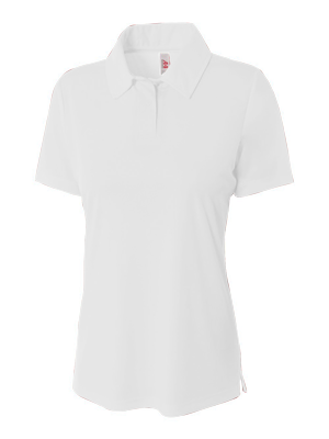 A4 Ladies' Warp-Knit Texture Performance Polo Shirt.