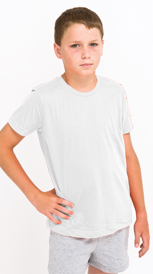 American Apparel USA Collection Youth 4.3 Ounce Fine Jersey Short Sleeve T-Shirt US MADE