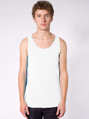 American Apparel Adult 3.7 Ounce Unisex Poly/Cotton Tank Made Overseas.