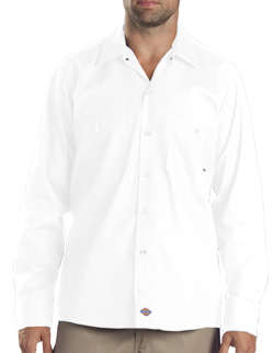 Dickies Adult Long Sleeve Industrial Poplin Work Shirt.