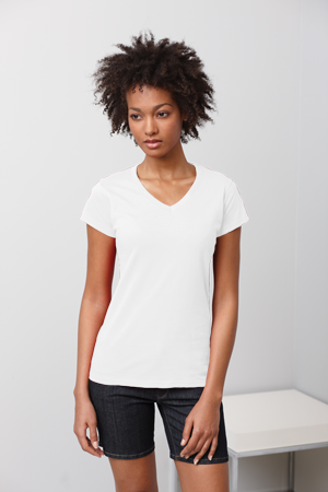 Gildan Ladies' 4.5 Ounce Softstyle® V-Neck T-Shirt