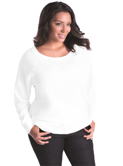 Lat Ladies Curvy Slouchy Pullover Top