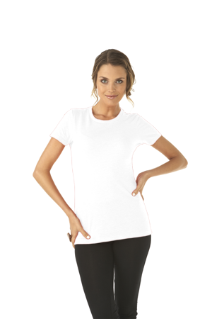 Next Level Ladies 4.3 Ounce CVC Crewneck T-Shirt